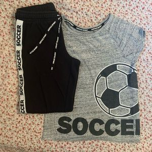 Justice | Girl's Soccer Tee AND joggers
